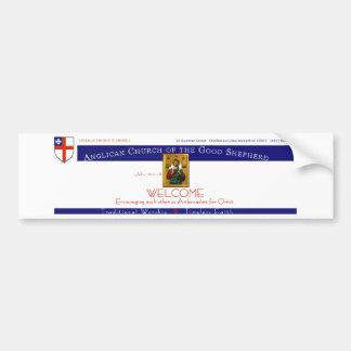 Iglesia Anglicana del buen pastor Pegatina Para Auto