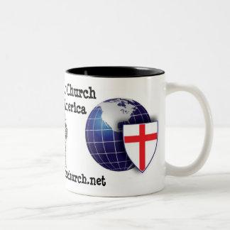 Iglesia Anglicana en Norteamérica Taza De Dos Tonos