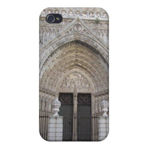 Iglesia antigua España de Toledo para el caso del  iPhone 4 Fundas