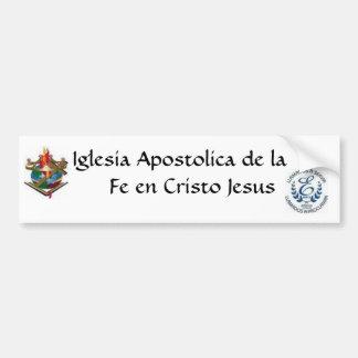 Iglesia Apostolica Pegatina Para Auto