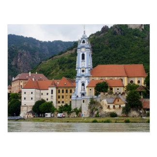 Iglesia azul en Dürnstein Tarjeta Postal