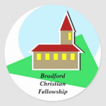 Iglesia, BradfordChristianFellowship Etiquetas Redondas