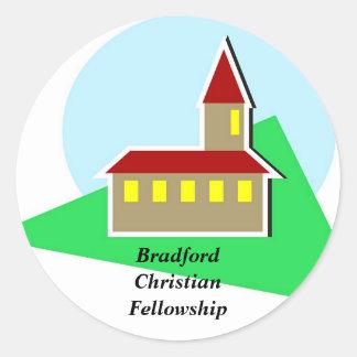 Iglesia, BradfordChristianFellowship Pegatina Redonda