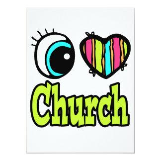 """Iglesia brillante del amor del corazón I del ojo Invitación 6.5"""" X 8.75"""""""