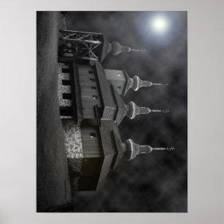 Iglesia cárpata póster