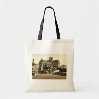 Iglesia, Cartmel, vintage Photochrom de Inglaterra Bolsas De Mano