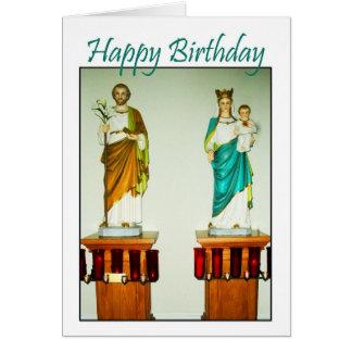 Iglesia católica de los ángeles santos - tarjeta d
