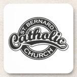 Iglesia católica de ST BERNARD blanco y negro Posavasos De Bebidas