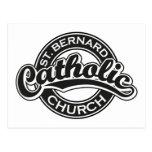 Iglesia católica de ST BERNARD blanco y negro Postal