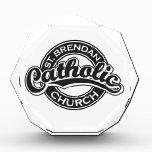 Iglesia católica del St. Brendan blanco y negro