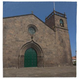 Iglesia católica portuguesa antigua servilleta de papel