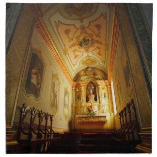 Iglesia católica portuguesa servilleta imprimida
