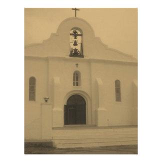 Iglesia católica vieja de la misión de El Paso - M Membretes Personalizados