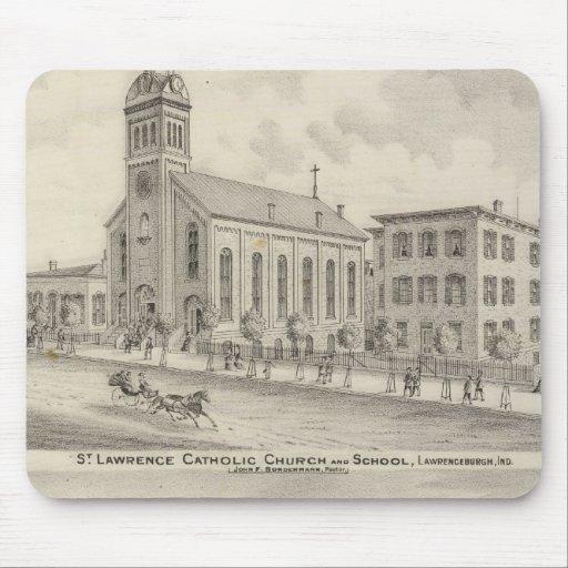 Iglesia católica y escuela de St Lawrence Alfombrilla De Ratón