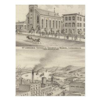 Iglesia católica y escuela de St Lawrence Postales