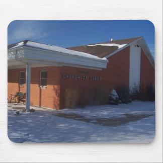 Iglesia central en Winter#3 Alfombrilla De Raton