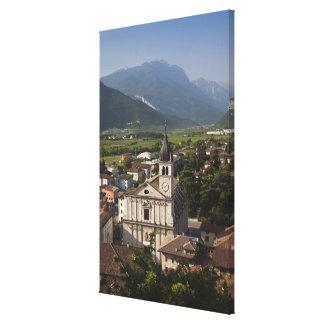 Iglesia colegial por mañana Arco Trento Lienzo Envuelto Para Galerías