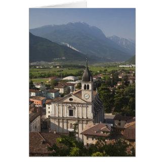 Iglesia colegial por mañana Arco Trento Tarjetas