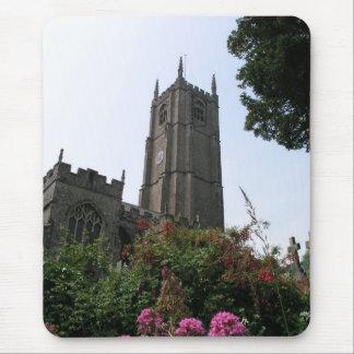 Iglesia Combe Martin Devon Reino Unido de los vínc Alfombrillas De Raton