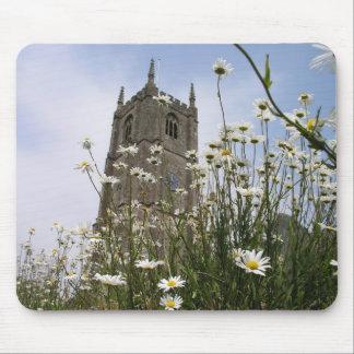 Iglesia Combe Martin Devon Reino Unido de los vínc Mousepads