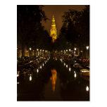 Iglesia con noche postal