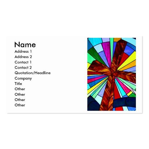 Iglesia cruzada de la fotografía del detalle del v tarjetas de visita