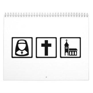 Iglesia cruzada de la monja calendario