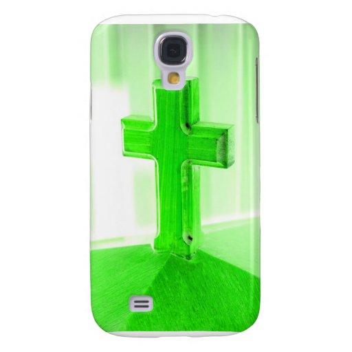 Iglesia cruzada de madera verde de la imagen de la