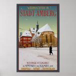 Iglesia de Amberg Weihnachten Posters