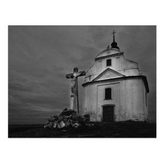 Iglesia de B&w Tarjetas Postales