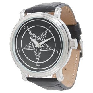 Iglesia de Baphomet de Satan elegante Reloj De Mano