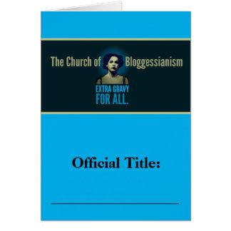 Iglesia de Bloggessianism Tarjeta Pequeña