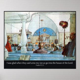 Iglesia de Carl Larsson con el salmo 122 estaba al Poster