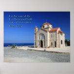 Iglesia de Chipre del 113:3 del salmo Posters