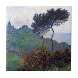 Iglesia de Claude Monet en Varengeville Azulejo Cuadrado Pequeño
