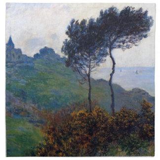Iglesia de Claude Monet en Varengeville Servilleta Imprimida