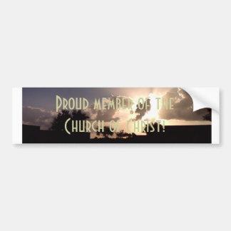 Iglesia de Cristo Pegatina Para Auto