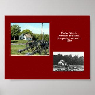 Iglesia de Dunker, Sharpsburg, Maryland--1862. Póster