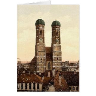 Iglesia de Frauen (es decir Frauenkirche), Munich, Tarjeta
