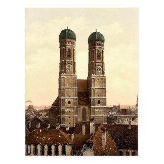 Iglesia de Frauen (es decir Frauenkirche), Munich, Tarjeta Postal