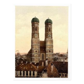 Iglesia de Frauen (es decir Frauenkirche), Munich, Tarjetas Postales