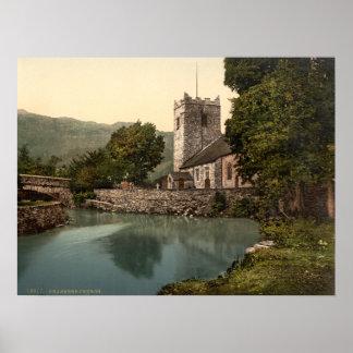 Iglesia de Grasmere, distrito del lago, Cumbria, I Póster