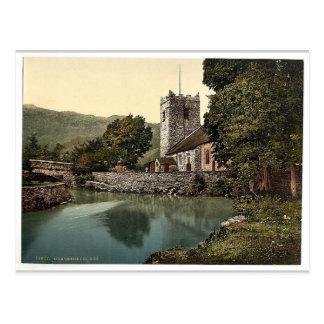 Iglesia de Grasmere, distrito del lago, Inglaterra Tarjeta Postal