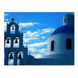 Iglesia de Grecia Santorini Postal