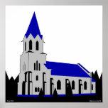 Iglesia de Grejs - Grejs Kirke Poster