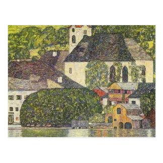 Iglesia de Gustavo Klimt- en Unterach en el Atters Postales