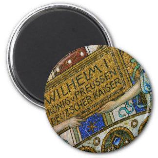 Iglesia de Kaiser Wilhelm, Berlín, plaga, teja de  Imán Redondo 5 Cm