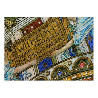 Iglesia de Kaiser Wilhelm, Berlín, plaga, teja de Tarjetas De Visita Grandes