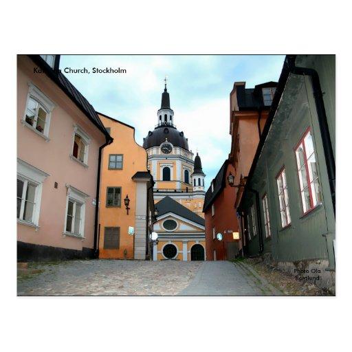 Iglesia de Katarina, Estocolmo Tarjeta Postal