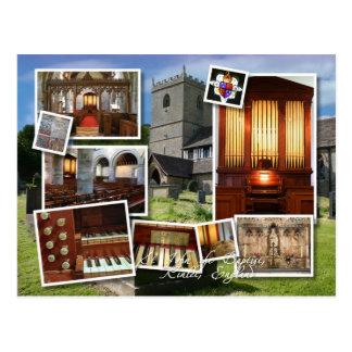 Iglesia de Kinlet y montaje del órgano Tarjetas Postales